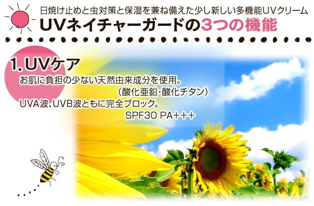 ��Ƥ��ߤ�������ݼ���������������������¿��ǽUV����� UV�ͥ����㡼�����ɤ�3�Ĥε�ǽ  1.UV���� ��ȩ����ô�ξ��ʤ�ŷ��ͳ����ʬ����ѡ��ʻ�������������������� UVA�ȡ�UVB�ȤȤ�˴����֥�å���SPF30 PA�ܡܡ�