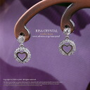 Basic heart ☆ zirconia silver 925 platinum pierced earrings