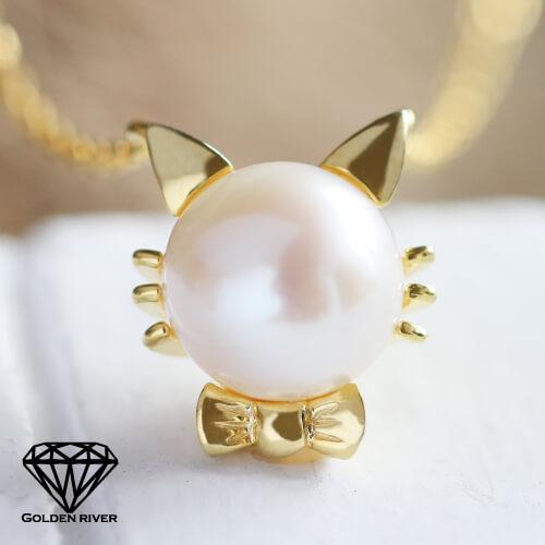 ゴールデンリバー猫カネックレス