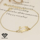 K18 18 k gold! イニシャルネーム plate Butterfly Butterfly bracelet chain type * teen pulled not available * booking item *