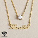 ※ reservation product impossible of two 925 name necklace initial necklace type diamond cz (cue BIC zirconia) custom tailoring nameplate K18/K14/ silver ※ collect on delivery※