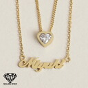 ※ reservation product impossible of two 925 initial necklace name necklace type heart & diamond cz (cue BIC zirconia) custom tailoring nameplate K18/K14/ silver ※ collect on delivery※