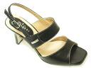 4531 SALE! ☆ 30%OFF ☆ TRUSSARDI heel sandals black