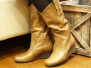 ☆2001 30%OFF ☆ real leather middle boots olives