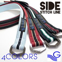 Put the stitch on both sides line 4 colors-born Belgium-ring belt