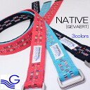 - Native Belt (native belt) [GEVAERT-Gewalt] to improve familiar men Lady's double ring /RIVER in a Gewalt belt Gewalt select shop with a native pattern as a motif (river up)