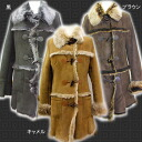 Lady's mouton coat for レディースムートンコートレデイースダッフル-like mouton coat fur women
