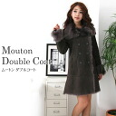 Shearling coat レディースムートン double coat fur mouton coat ladies