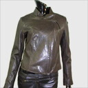 Zip up leatherette jacket