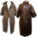 Leather mink with balloon wind coats ladies leather overcoats