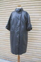 Leather mink with balloon wind coat