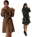 Popular products ★ belted Sheepskin coat here is made to order products. Rich color! Only lover Mouton, on this occasion! Fur / Shearling / coat and long coat / ladies / Sheepskin coat