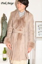 Popular products ★ belted Sheepskin coat here is made to order products. Women's fur coat / ムートンウェア / Mouton