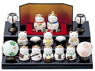 【雛人形/ひな人形】【陶器/置物】【節句】平安雛豆