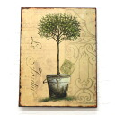 Topiary steel plate (BX-21) (wall decoration, display goods, Cafe gadgets Panel)-antique +-