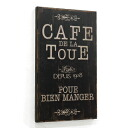 (Wall decoration & display gadgets Cafe and signage panels) sine plate, カフェトゥール (BX-85)-antique +-