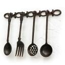 Cast cutlery objet (MC-12) (iron display gadgets, gadgets Cafe)-antique +-