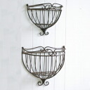 -Classical wall basket 2 points set GX-40 (decor, Shabby Chic, flower, Garden, exterior, Garden, European, display goods, classical, Interior goods, antique, display sundries)