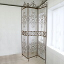 Rusty screen (GK-55) (old iron partition partition classic European room divider screen race pattern folding antique gadgets blindfold interior room Shabby Chic rusty iron fence)