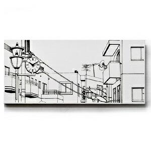 「駅前の街並み」ウォールクロック
