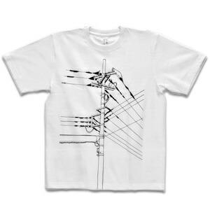 """[シキサイ] Tシャツ """"電信柱"""""""