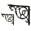 Arabesque bracket 2 pieces set (MC-27) (wall walls with retro French country elegant decoration, antique iron of machining...)-and antique-