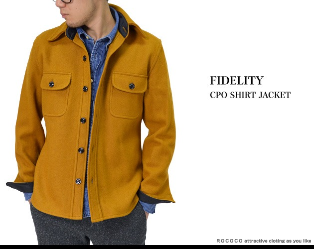 Rococo attractive clothing rakuten global market for Fidelity cpo shirt jacket