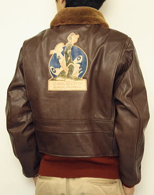 Us Navy Leather Flying Jacket - Jacket
