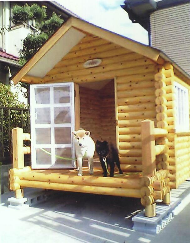 Rogupethouse Rakuten Global Market Log Dog Kennel