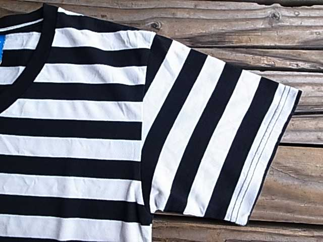 Goodon グッドオン Vネック ボーダー Tシャツ