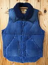 Rocky Mountain Feather Bed Rocky Mountain CHRISTY VEST Christie best CORDUROY corduroy down vest eggplant dark blue
