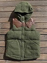 ★ SALE 30% off ★ GOWEST gowest TRACKING HOODY VEST trekking food best olive size 1