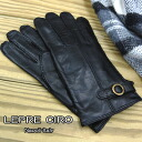 <> made in Italy men's leather gloves and glove belt leather glove [wool liner: 1103 w-men LEPRE CIRO lepre Ciro