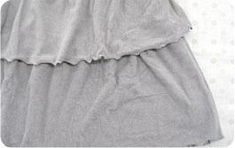 授乳服裾部分