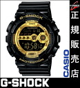 ★It is ★ Casio G-SHOCK GD-100GB-1JF casio G-SHOCK Casio watch men casio watch gold G-SHOCK Black X Gold Series black x gold series Casio watch Lady's watch men for Quo card 2,000 yen in a review