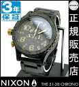 NIXON WATCH NA0831041-00 51-30 Chrono MATTE BLACK/GOLD