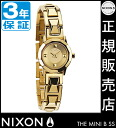 Review with coupon 2000 yen-present during ★ [regular 2 years warranty] NA339502 Nixon mini bee SS Nixon watch ladies watch NIXON watch NIXON MINI B SS ALL GOLD Nixon watches waterproof nixon: total