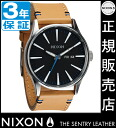 Coupon 4000 Yen-present during ★ [regular 2 years warranty] NA1051602 Nixon Sentry leather Nixon watch men's watches NIXON watch NIXON SENTRY LEATHER NATURAL/BLACK Nixon watch nixon at total's reviews