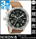 It is 51-30 51-30 51-30 ★ [regular two years guarantee] NA1241037 Nixon CHRONO LEATHER Nixon watch men watch NIXON clock NIXON Kurono leather chronograph BLACK/SADDLE watch waterproofing nixon watch men gap Dis during the present for coupon 10,000 yen in a review
