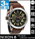 Review with coupon 10000 Yen-present during ★ [regular 2 years warranty] NA3631625 Nixon 48-20 CHRONO LEATHER Nixon watch ladies watch NIXON watch NIXON 48-20 Chrono leather chronograph ANTIQUE COPPER/BROWN waterproof nixon watches Nixon watches mens wat