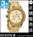 Review with coupon 8000 Yen-present during ★ [regular 2 years warranty] NA4041520 Nixon 38-20 CHRONO ALL GOLD CRYSTAL Nixon watches Womens watches NIXON watch NIXON 38-20 Chrono Chronograph Watch waterproof nixon watches Swarovski