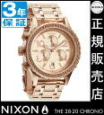 Review by coupon 8000 Yen-present during ★ [regular 2 years warranty] NA404897 Nixon 38-20 CHRONO ALL ROSE GOLD Nixon watches ladies watches NIXON watch NIXON 38-20 Chrono chronograph watches waterproof nixon watches Swarovski
