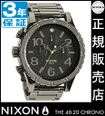 Review with coupon 10000 Yen-present during ★ [regular 2 years warranty] NA4861885 Nixon 48-20 Chrono Nixon watch ladies NIXON watch NIXON 48-20 CHRONO POLISHED GUNMETAL/LUM Chronograph Watch waterproof nixon watches Nixon watches Mens Watches 1125 NIXON