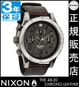 Review by coupon 10000 Yen-present during ★ [regular 2 years warranty] NA3631887 Nixon 48-20 Chrono leather Nixon watch ladies NIXON watch NIXON 48-20 CHRONO LEATHER BROWN GATOR Chronograph Watch waterproof nixon watches Nixon watches mens watches