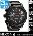 Review with coupon 10000 Yen-present during ★ [regular 2 years warranty] NA4861320 Nixon 48-20 Chrono Nixon watch ladies NIXON watch NIXON 48-20 CHRONO ALL BLACK/MULTI Chronograph Watch waterproof nixon watches Nixon watches mens watches