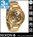 Review with coupon 10000 Yen-present during ★ [regular 2 years warranty] NA037502 Nixon 42-20 Chrono Nixon watch ladies NIXON watch NIXON 42-20 CHRONO ALL GOLD Chronograph Watch waterproof nixon watches Nixon watches mens watches