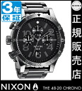 Review with coupon 10000 Yen-present during ★ [regular 2 years warranty] NA486632 Nixon 48-20 Chrono Nixon watch ladies NIXON watch NIXON 48-20 CHRONO ALL GUNMETAL Chronograph Watch waterproof nixon watches Nixon watches mens watches