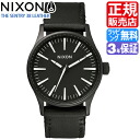 Review with coupon 2000 yen-present during ★ [regular 2 years warranty] NA377005 Nixon Sentry 38 leather Nixon watch men's watches ladies watch NIXON watch NIXON SENTRY 38 LEATHER BLACK/WHITE Nixon watch nixon watch 10P01Mar15