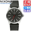 Review with coupon 2000 yen-present during ★ [regular 2 years warranty] NA377000 Nixon Sentry 38 leather Nixon watch men's watches ladies watch NIXON watch NIXON SENTRY 38 LEATHER BLACK Nixon watch nixon watch 10P01Mar15