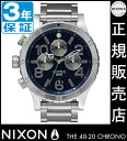 Review with coupon 10000 Yen-present during ★ [regular 2 years warranty] NA4861981 Nixon 48-20 Chrono Nixon watch ladies NIXON watch NIXON 48-20 CHRONO MIDNIGHT BLUE/VOLT GREEN Chronograph Watch waterproof nixon watches Nixon watches mens watches